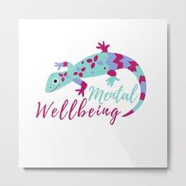 Mental Wellbeing Animal Metal Print