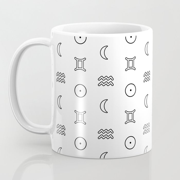 Gemini/Aquarius + Sun/Moon Zodiac Signs Coffee Mug