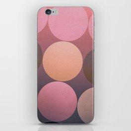 Pink Shadows Moon iPhone Skin