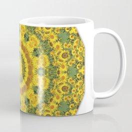 Sunflowers, Floral mandala-style, Flower Mandala Coffee Mug
