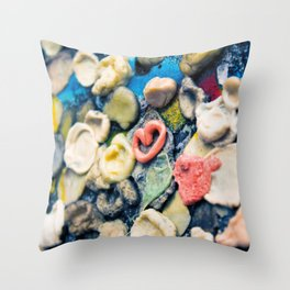 Sticky Love Throw Pillow