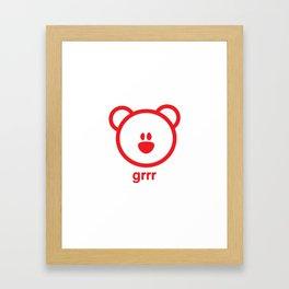 Bear : grrr Framed Art Print