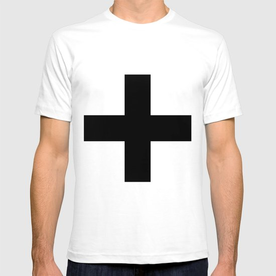 Black Plus on White /// www.pencilmeinstationery.com T-shirt