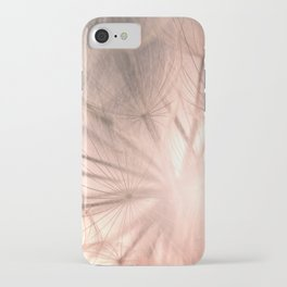 Pink Dandelion Macro Nature Photography Art and Apparel iPhone Case