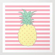 Pineapple Stories Art Print