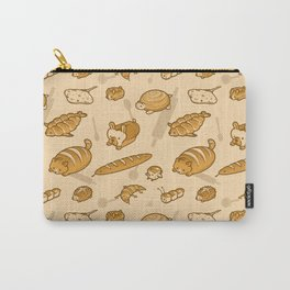 Live, Laugh, Loaf Pattern Carry-All Pouch