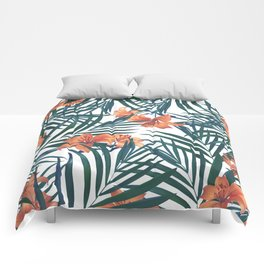 Tropical Lilies Comforters