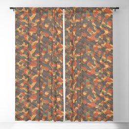 Orange Army Camouflage Blackout Curtain