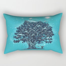 Deep Tree Diving  Rectangular Pillow