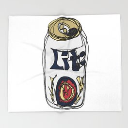 Miller Lite Can Throw Blanket