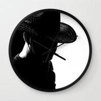 cowboy Wall Clocks featuring Cowboy by Faruk Taşdemir