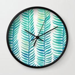 Seafoam Seaweed Wall Clock
