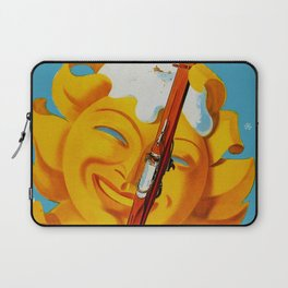 Wallis - Valais Switzerland - German Travel Poster Laptop Sleeve