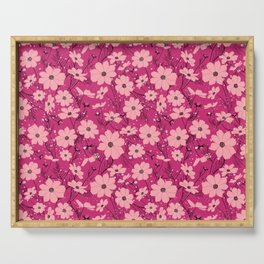Cosmea pink Serving Tray