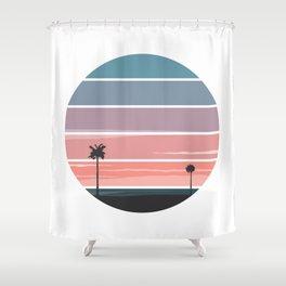 Palm Sunset Shower Curtain