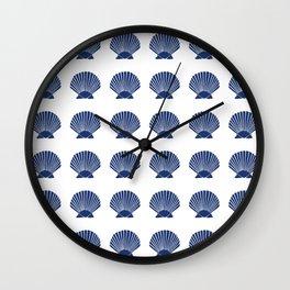 Navy Seashell Wall Clock