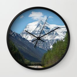 Mount Robson Photography Print Wall Clock