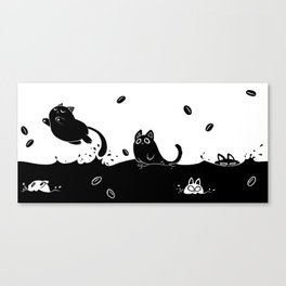 Coffee Cats Canvas Print
