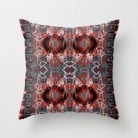 ikat Throw Pillows featuring Ikat by Sofia Perina-Miller