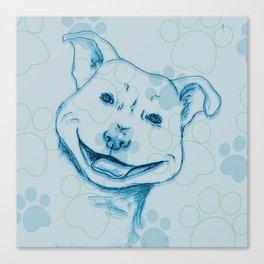 Happy PitBull Canvas Print