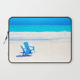 Chairs on the Beach Laptop Sleeve