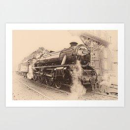 Steam Train - 45212 Locomotive Art Print