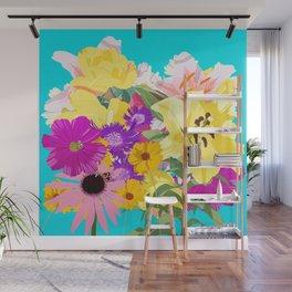 Summer garden bouquet Wall Mural