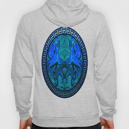 OctoSpeculum #4 - Psychedelic Octopus Fractal Optical Illusion Vibrant Design Hoody
