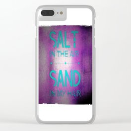 summer text Clear iPhone Case
