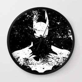 The Bat Returns Grunge Wall Clock