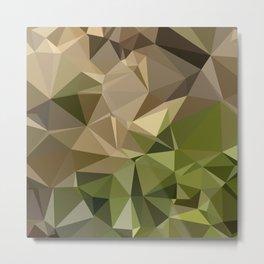 Burlywood Brown Abstract Low Polygon Background Metal Print