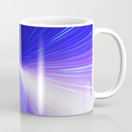 High energy particles traveling through space-time Coffee Mug