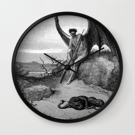 Lucifer, the fallen angel - Gustave Dore Wall Clock