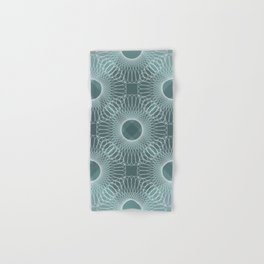 Circled in Shades of Teal Hand & Bath Towel