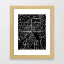 saint paul map minnesota Framed Art Print