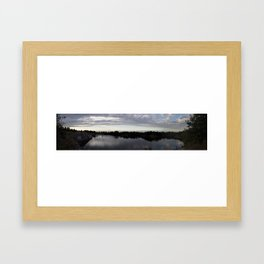 Halibut Point Panoramic Framed Art Print