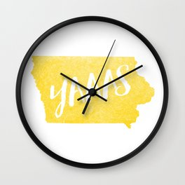 Iowa...YAAAS Wall Clock