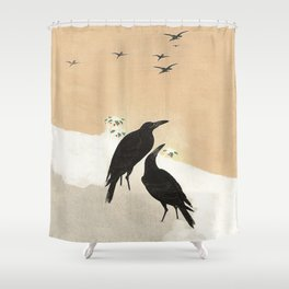 Crows from Koson Shower Curtain
