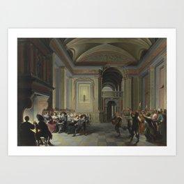 Dirck van Delen - A Palatial Interior [1632] Art Print