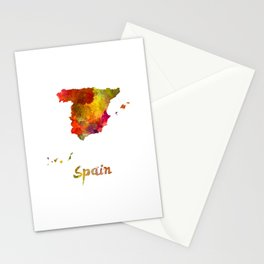 Spain in watercolor Stationery Cards