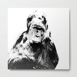 Gorilla In A Pensive Mood Portrait #decor #society6 #buyart Metal Print