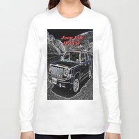 jeep Long Sleeve T-shirts featuring JEEP JPATW by Dmarmol
