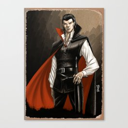 Vampire warrior Canvas Print