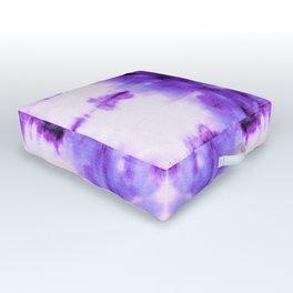 Violet Shibori Satin Outdoor Floor Cushion