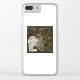 St George and the Dragon Clear iPhone Case