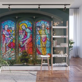 Christmas Church Window Wall Mural