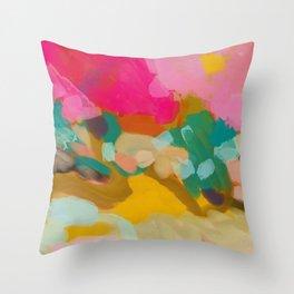 landscape light & pink clouds Throw Pillow