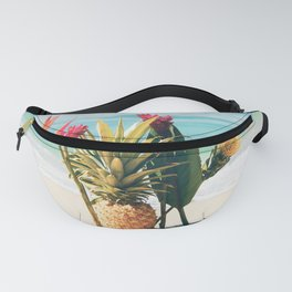 Pineapple Beach Hawaii Tropical Flowers Fanny Pack