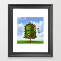 Bird Revenge Framed Art Print