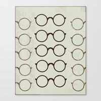 glasses Canvas Prints featuring (Glasses) by Mr and Mrs Quirynen